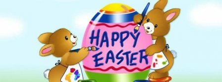 Happy Easters Painting Bunnies Facebook Covers