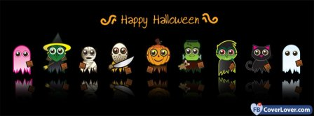 Happy Halloween Cartoon 1 Facebook Covers