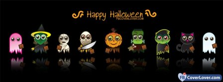 Happy Halloween Cute Costumes Facebook Covers