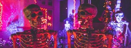 Happy Halloween Skeletons Facebook Covers