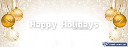 Happy Holidays 4 Facebook Covers