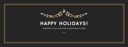 Happy Holidays Sending You Love Facebook Covers