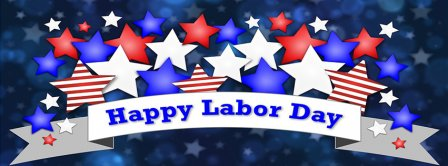 Happy Labor Day Stars Facebook Covers
