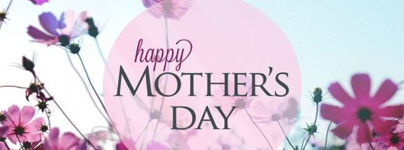 Happy Mother's Day Pink Flowers Field Facebook Covers
