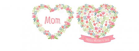 Happy Mothers Day Mom Flowers Hearts Facebook Covers