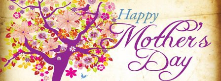 Happy Mother's Day Flowers Tree Facebook Covers