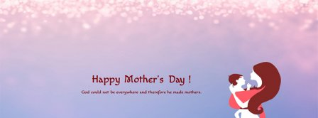 Happy Mothers Day God Created Mother Facebook Covers