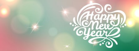 Happy New Year Sparkling Light Facebook Covers
