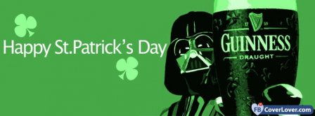 Happy Saint Patrick Darth Vador 2 Facebook Covers