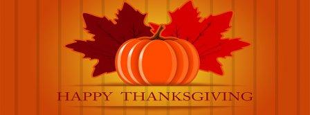Happy Thanksgiving Pumpkin Facebook Covers