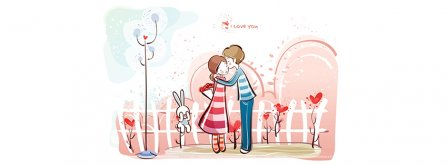 Happy Valentines Day Cute Couple Facebook Covers