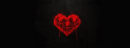 Happy Valentines Day Emo Skull Heart Facebook Covers