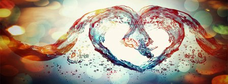 Happy Valentines Day Love Symbol Water Facebook Covers