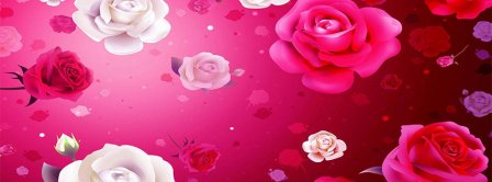 Happy Valentines Day Roses Background Facebook Covers