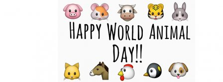 Happy World Animal Day Facebook Covers