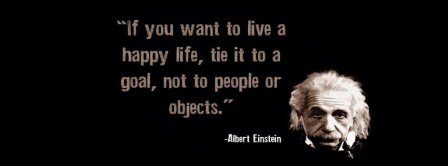 Happy Life Albert Einstein Quote Facebook Covers
