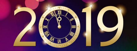 Happy New Year 2019 Clock Ticking Facebook Covers