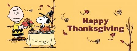 Happy Thanksgiving Snoopy  Facebook Covers