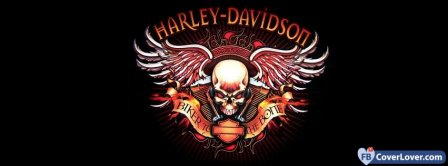 Harley Davidson Logo 2  Facebook Covers