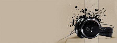Black Headphones Music Facebook Covers