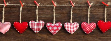 Hearts On A String Facebook Covers
