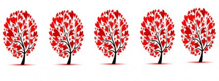 Hearts Trees Facebook Covers