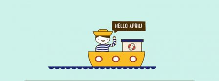 Hello April Sailor Facebook Covers