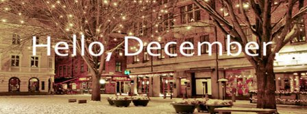 Hello December Lights And Snow Facebook Covers
