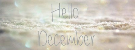 Hello December Full Of Snow Facebook Covers