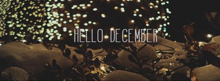 Hello December Glitter Facebook Covers