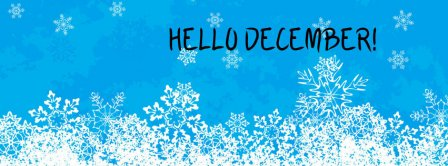 Hello December Snowflakes Facebook Covers