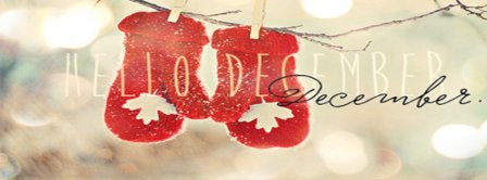 Hello December Warm Gloves Facebook Covers