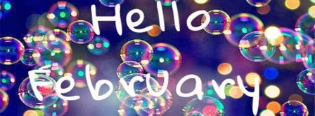 Hello February Bubbles Facebook Covers