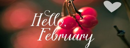 Hello February Cherry Love Facebook Covers