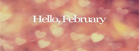 Hello February Hearts Facebook Covers