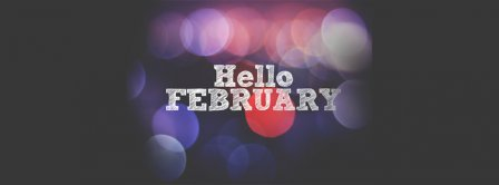 Hello February Lights Facebook Covers