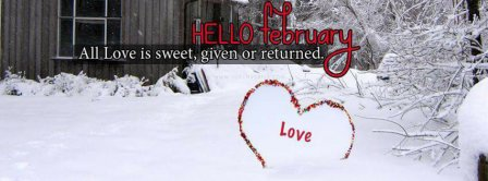 Hello February Love Is Sweet Facebook Covers