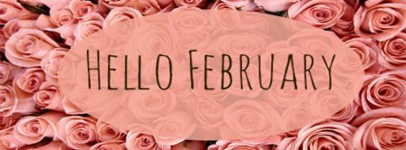 Hello February Roses Facebook Covers