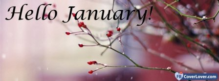 Hello January Facebook Covers