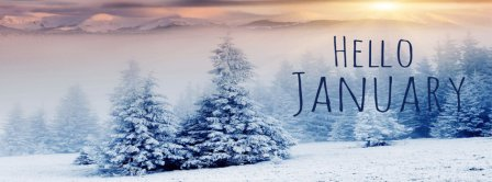 Hello January Sunset Facebook Covers