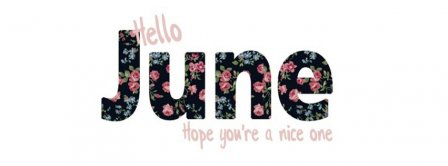 Hello June Hope You Are Nice Facebook Covers