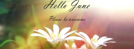 Hello June Please Be Awesome Facebook Covers