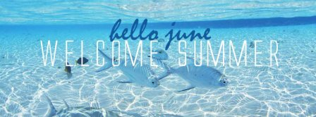 Hello June Welcome Summer Facebook Covers