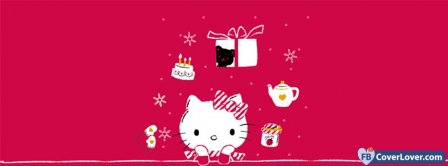 Hello Kitty Christmas  Facebook Covers