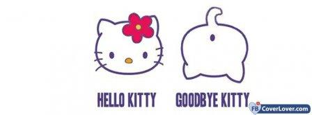 Hello Kitty Goodbye Kitty Facebook Covers