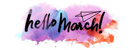 Hello March Pastel Facebook Covers