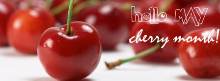 Hello May Cherry Month Facebook Covers