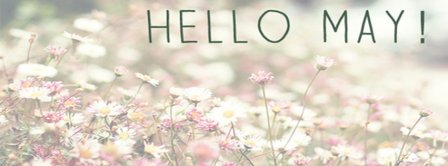 Hello May Pastel Facebook Covers