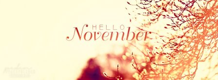 Hello November 2 Facebook Covers