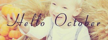 Hello October Children Smiling Facebook Covers
